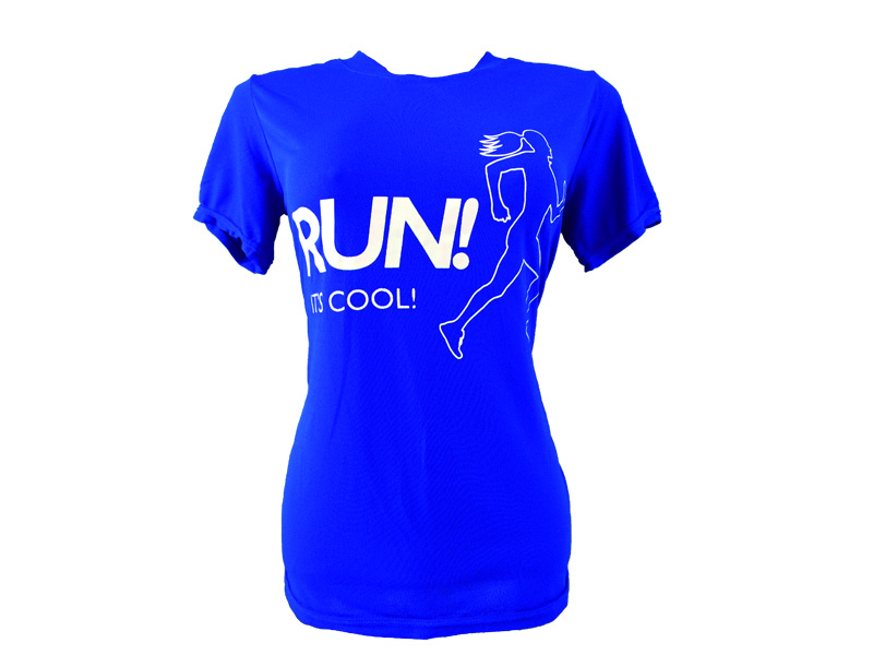 Coolshirt Baby Look Run It's Cool Azul