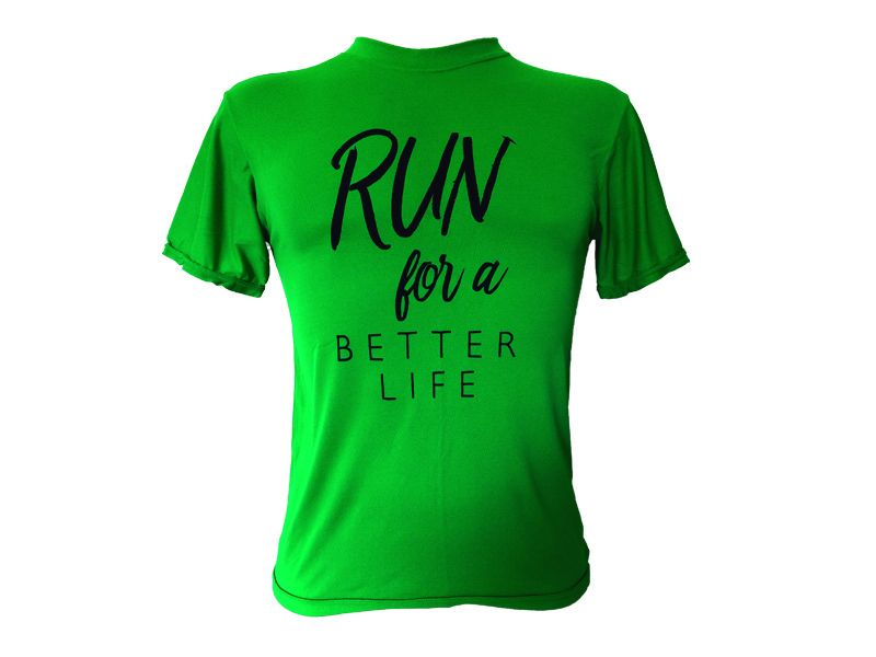 Coolshirt Run for a Better Life Verde